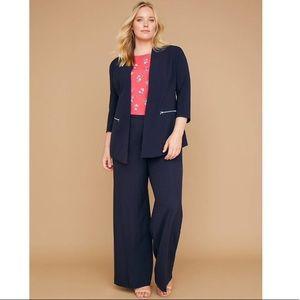 New LANE BRYANT Soft Pink THE BRYANT BLAZER Ponte Stretch Jacket Plus 14W 28W